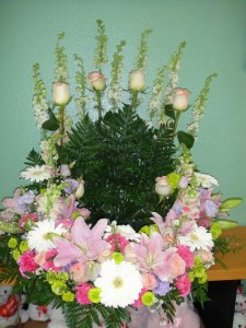 Spring Arrangement Ceremonial Basket