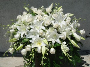 Heavenly White Casket Spray