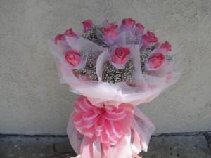 Forever Love Dozen Pink Roses