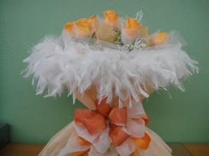 Sweetheart Orange Dozen Roses