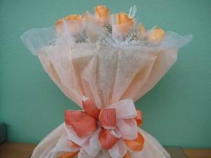 Sweetheart Orange Half Dozen Roses