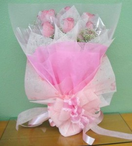 Pretty Pink Roses - hk004