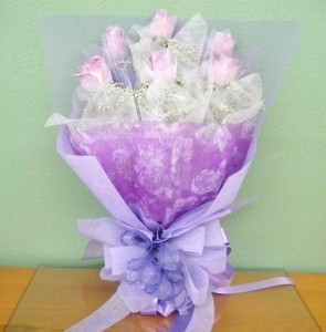 Spring Happiness Lavender Roses - hk005