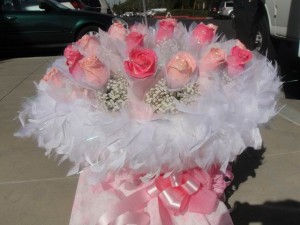 Romantic Light and Hot Pink Roses - hk006
